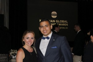 Stephanie Cate and Ahmed El-Assal at the Meridian Award Ceremony
