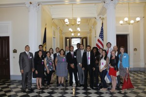 Dr Quintan Wiktorowicz with the Fellows, The White House