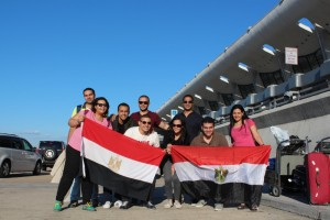 Egyptian Fellows at the Dulles Airport, DC