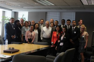 Thomas Friedman with the Fellows, The New York Times
