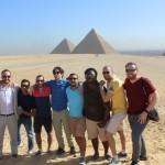 Fellows at the Giza Pyramids