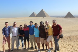 Fellows at the Giza Pyramids