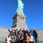 Fellows at their visit to the Statue of Liberty