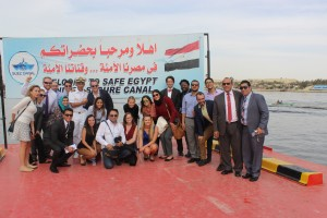 Fellows during their visit to the Suez Canal