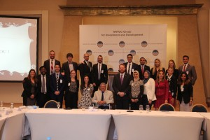 Fellows with Ambassador Mohamed Anis Salem