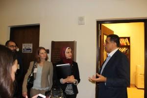 Fellows with Mr. Hafez El Mirazi at AUC Adham Center