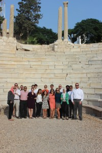 Gabr Fellows at the Roman Amphitheatre in Alexandria