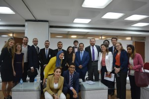 Gabr Fellows with Dr. Ahmed Darwish at the Greek Campus