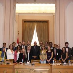 Gabr Fellows with H.E. Mr. Sameh Shoukry, Minister of Foreign Affairs.