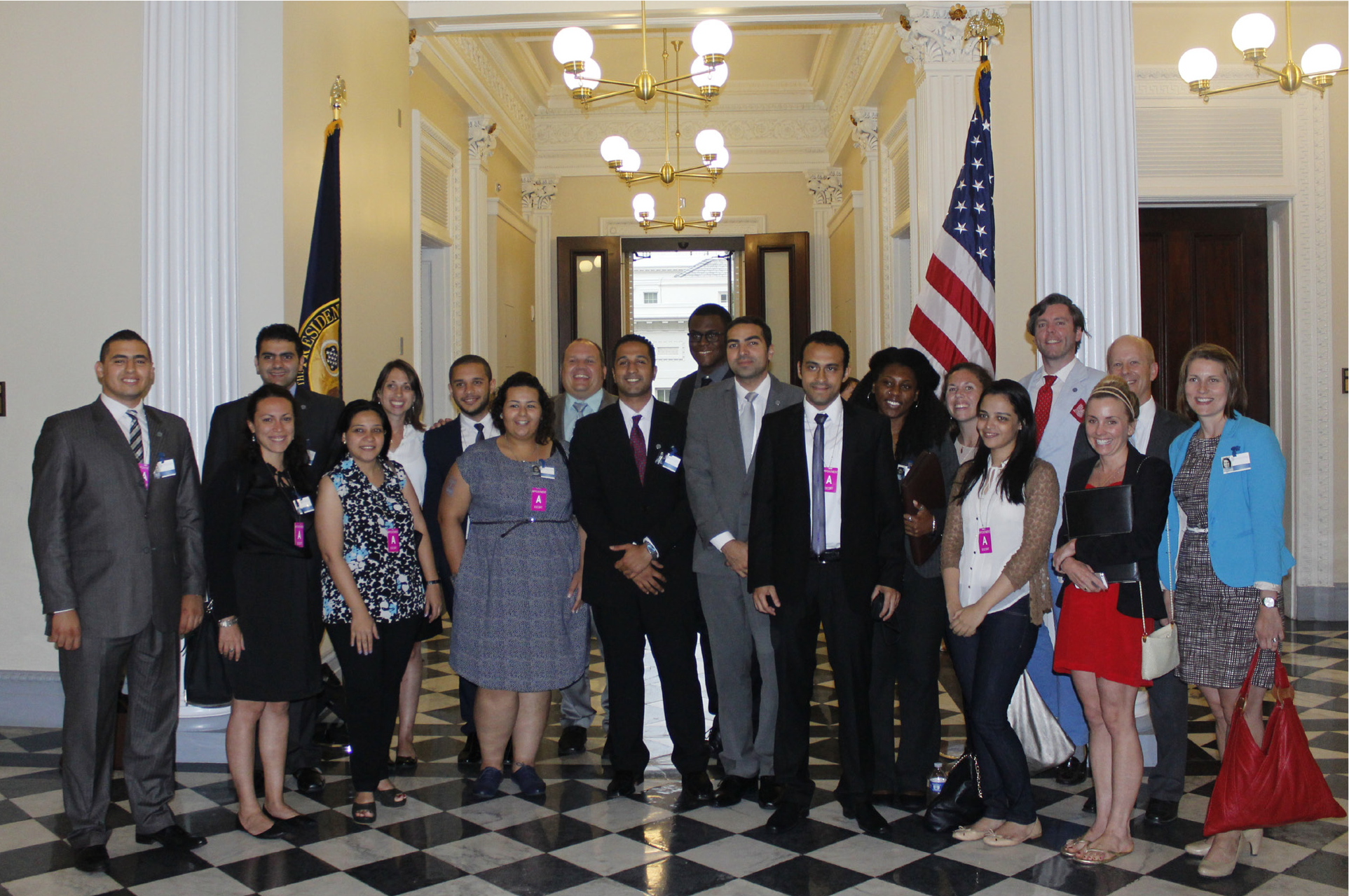 The 2014 Class Fellows at the White House, Washington, D.C.