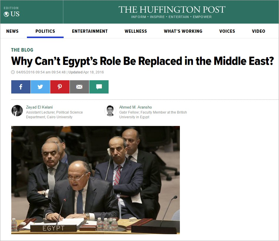 Egypt's Role.