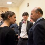 Chairman Gabr with Gabr Fellows Elizabeth Cartier and Kemp Gouldin