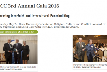 Drew University's coverage of Chairman Gabr's Award