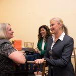 Ms Gehan Gabr and Ambassador Wendy Chamberlin