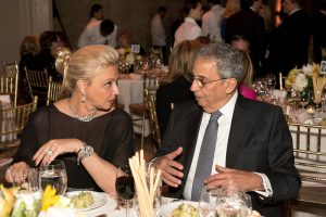 Ms Gehan Gabr and Former Secretary General of the Arab League H.E. Amr