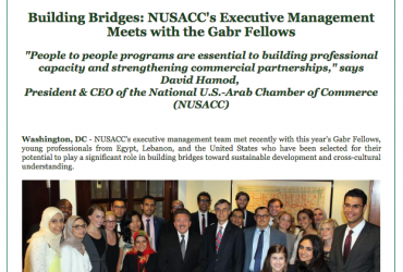 NUSACC writes about meeting with the Gabr Fellows