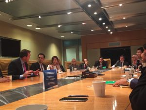 Brian Sullivan hosts roundtable discussion for the Gabr Fellows