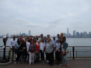 Fellows at Ellis Island