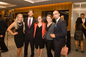 2015 Gabr Fellows Elizabeth Dent, Leah Moschella, and Murray Abeles with 2016 Fellows Thomas Hanna and Abby Wiedenhaefer