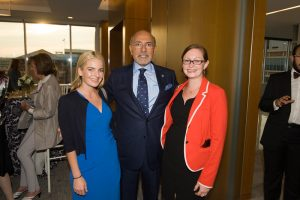 2016 Fellow Kate Chiucchini and 2015 Fellow Lisa Moschella with Mr Shafik Gabr