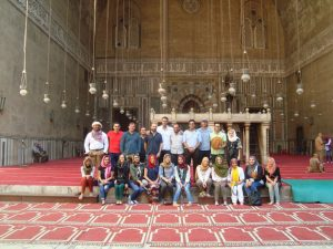 2016 Fellows at the Madrassa of Sultan Hassan in Cairo