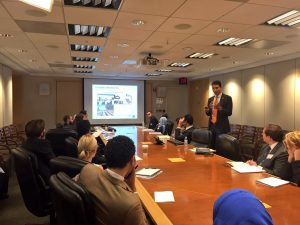 Mohamed Abdel-Kader addresses the Fellows at the Department of Education