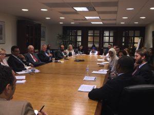 Brigadier General (ret) Tom Cosentino and Congressman Nick Rahall address the Fellows at the Shafik Gabr Foundation