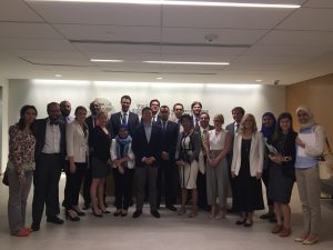 Dr Eric Trager meets with the Fellows at the Washington Institute