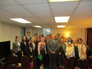 Fellows with Ambassador Ahmed Farouk