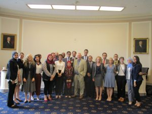 Congressman Dana Rohrabacher meets with the Gabr Fellows