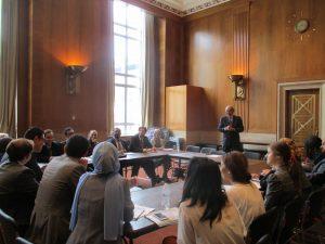 Senator Ed Markey meets with the Gabr Fellows on Capitol Hill