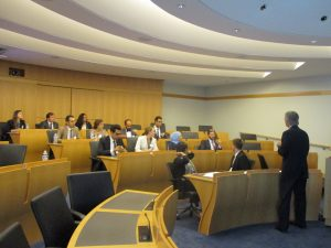Ambassador Bill Taylor addresses the Fellows at USIP
