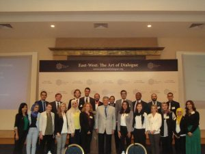 Ambassador Mohammed Anis with the Gabr Fellows