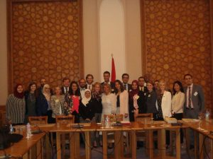 Ambassador Moushira Khattab with the Gabr Fellows