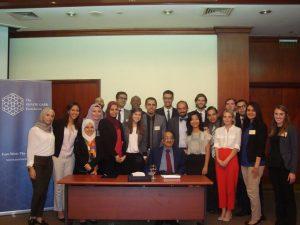 Dr. Aly El Samman addresses the Gabr Fellows