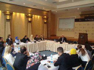 Dr. Hossam Badrawi addresses the Gabr Fellows