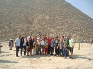 Fellows at the Pyramids of Giza