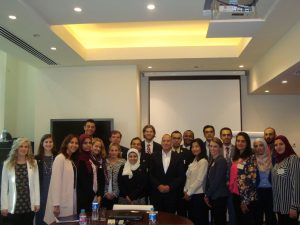 Fellows meet with Mr. Hisham El Khazindar