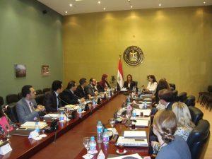 Fellows meeting with H.E. Sahar Nasr