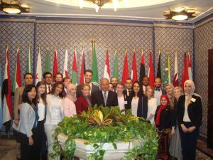 H.E. Ahmed Aboul Gheit with the Gabr Fellows