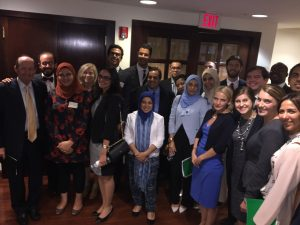 Ambassador Michael Sheehan meets with the Fellows at the Shafik Gabr Foundation