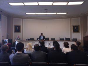 Congressman Dutch Ruppersberger addresses the Gabr Fellows