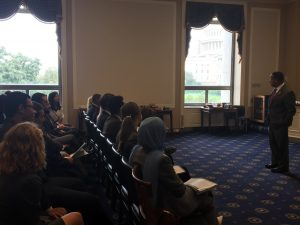 Congressman Keith Ellison meets with the Fellows on Capitol Hill