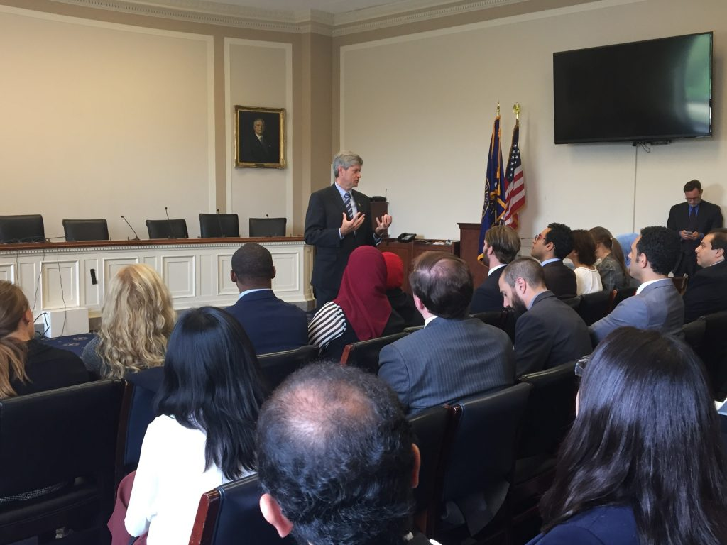 Congressman Jeff Fortenberry meets with the Fellows on Capitol Hill