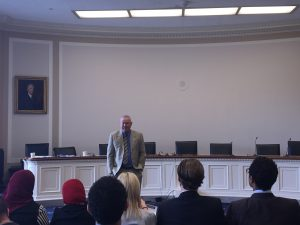 Congressman Dana Rohrabacher addresses the Fellows
