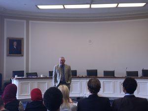 Congressman Dana Rohrabacher addresses the Fellows