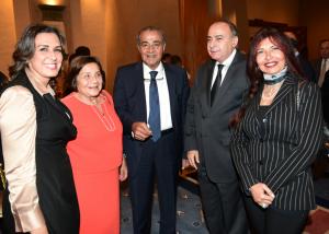 Mrs. Rania Elwany, Mrs. Loula Zaklama, H.E. Dr. Ali Moshely, H.E. Alaa Fahmy and Mrs. Laila Shoukry