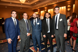 2014 Gabr Fellow Ahmed ElNaggar, Dr. Mohamed Kamal, 2016 Gabr Fellow Robert Sheldon, 2014 Gabr Fellow Ahmed Naguib and 2016 Gabr Fellow Ahmed Abul Naga